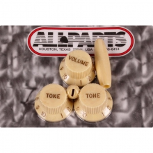 Allparts S-Style Knopf & Tip Set in Cream