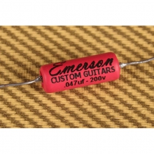 Emerson Custom .047uF Paper In Oil (PIO) Tone Capacitor Red