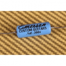 Emerson Custom .1uF Paper In Oil (PIO) Tone Capacitor Blue