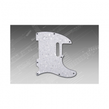 Pickguard T-Style White Pearl 3-ply