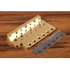 Wudtone CP Tremolo Bridge Plate - The Holy Grail Gold MIM 2 1/16  Spacing - Gold Cryo