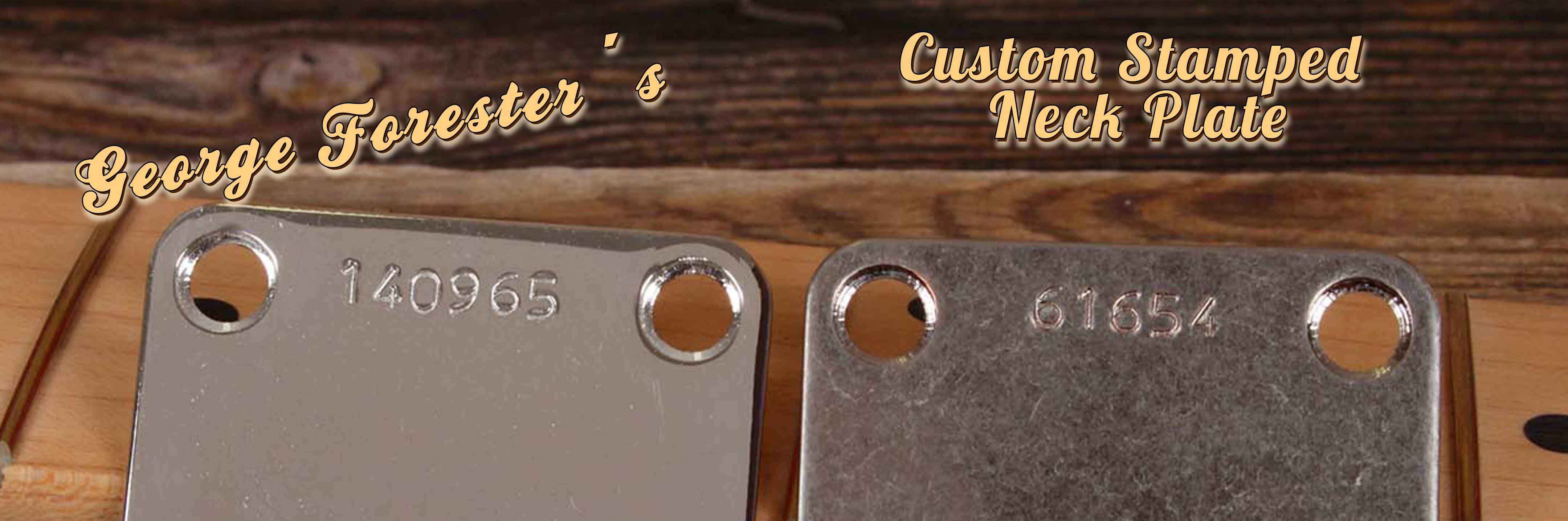 Custom Stamped Neck Plates